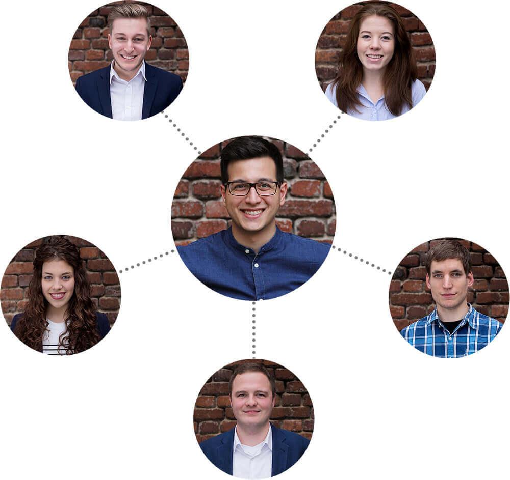 Team der Werbeagentur AWEOS
