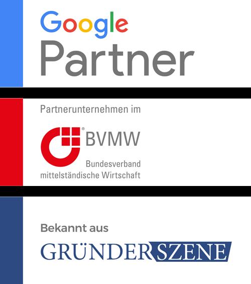 Zertifikate und Siegel unserer Full-Service Werbeagentur