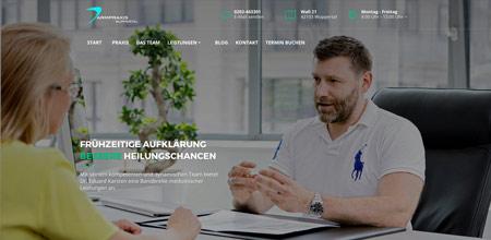 Darmpraxis- Kunde unserer Werbeagentur