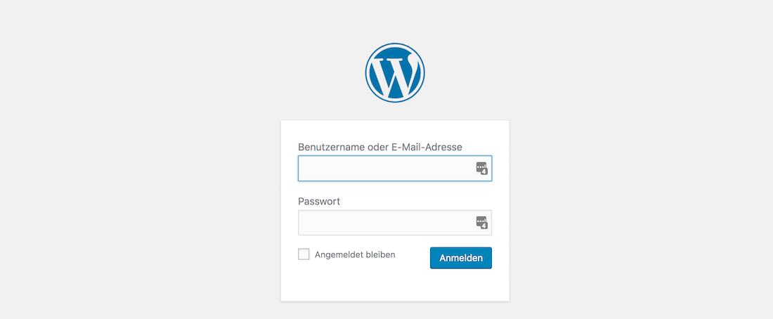 Anmeldung WordPress