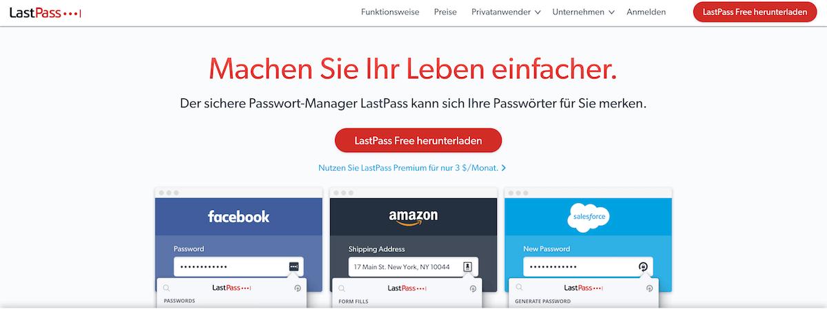 WordPress Zugangsdaten speichern