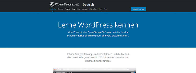 WordPress Seitenstruktur