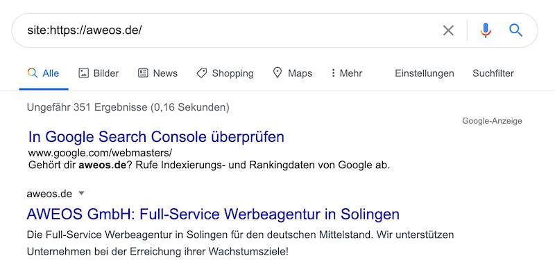 Suchmaschine Indexierung
