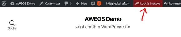 AWEOS WP Lock aktivieren