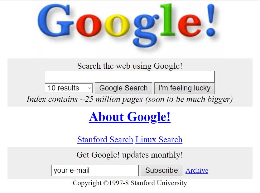 Googles Anfänge