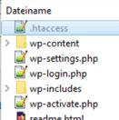 WordPress Stammverzeichnis: htaccess öffnen