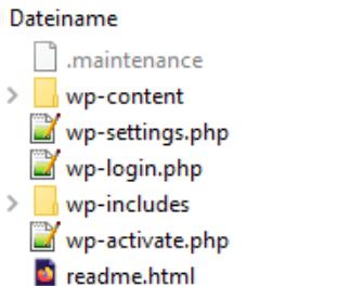 WordPress Maintenance Datei im Stammverzeichnis