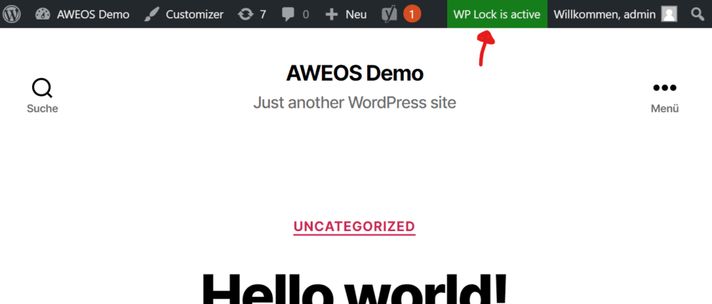 WP Lock für WordPress deaktivieren