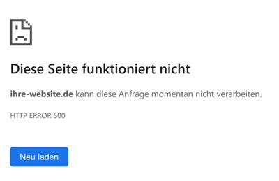 WordPress HTTP Error 500