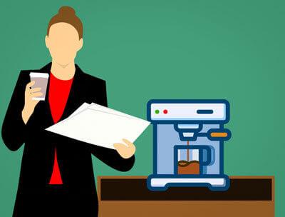 Was ist Cache mit Alltagsgegenständen erklärt: Wassertank einer Kaffeemaschine