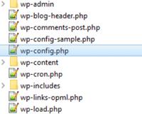 wp-config.php im WordPress Stammverzeichnis öffnen