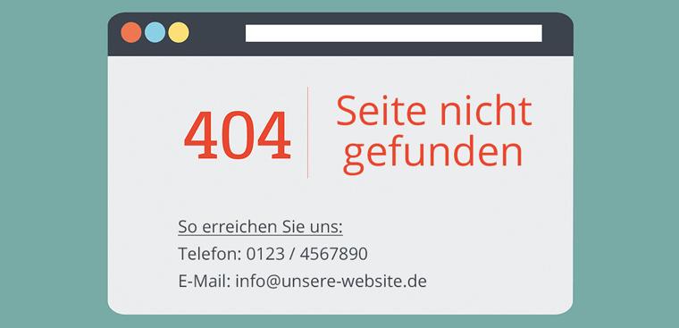 Eigene 404 Fehlerseite erstellen