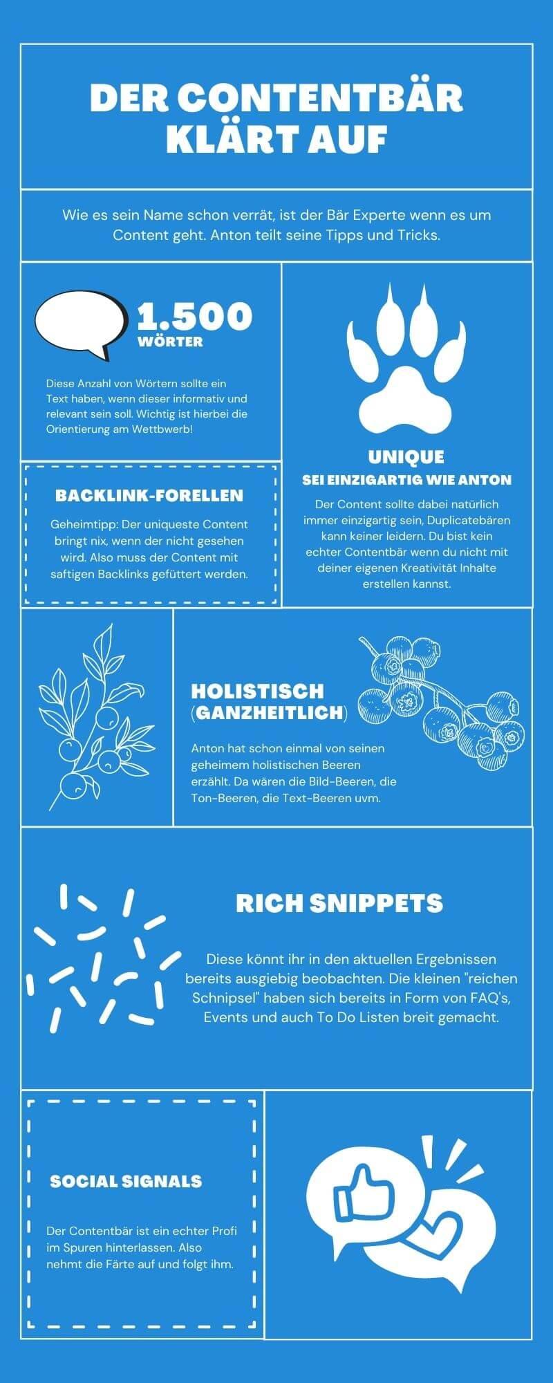 Contentbär Infografik